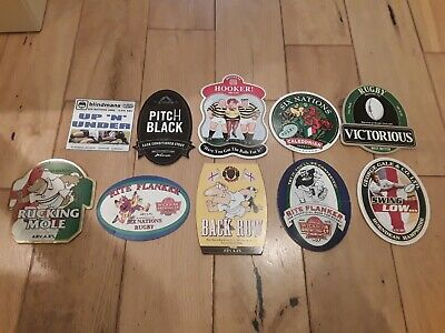 10 Rugby Related Beer Pump Clips,see Additional Info Below,some Rare Clips Here. • 10£