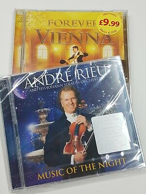 ANDRE RIEU MUSIC OF THE NIGHT SEALED CD + DVD And FOREVER VIENNA  • 5£