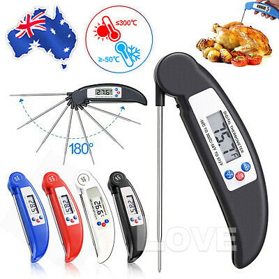 AU12.45 • Buy Foldable Digital Food Thermometer Probe Temperature Kitchen Cooking BBQ Meat Jam