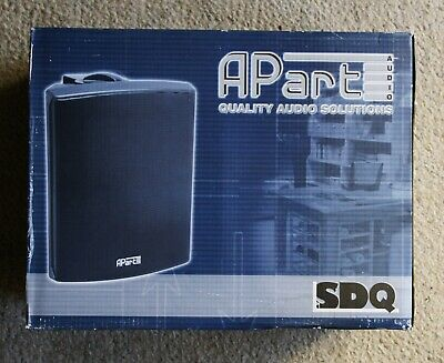 APART SPEAKERS Pair SDQ5T BL 100v/16ohm Wall Mount • 50£