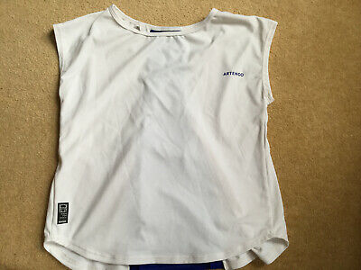 Decathalon - Artengo - Girls Tennis Top - White / Navy - Age 6 Years • 1.50£