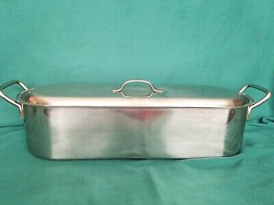 $45 • Buy FISH POACHER Inox Italy 18C V.I.S. Stainless Steel Lid Tray 18 , NEVER USED
