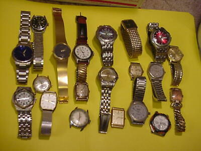 $ CDN12.98 • Buy Lot Of 20 Men's Watches, Various Makes, Some Quartz Some Winders