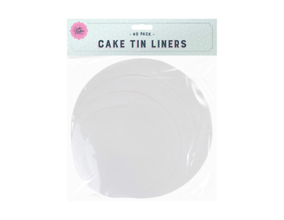 £2.35 • Buy 40x Round Cake Tin Liners Non Stick Greaseproof Circles Baking Parchment Paper