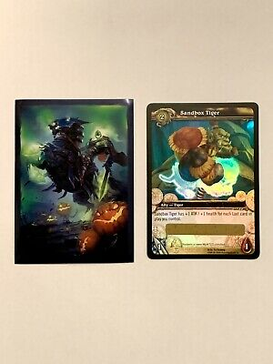 WoW TCG Sandbox Tiger Loot Card *Unscratched Mint/NM* W/ WoW Themed Card Sleeve • 14.90£