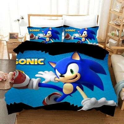 AU42.80 • Buy Sonic The Hedgehog Quilt/Duvet/Doona Cover Set Single Double Queen Size