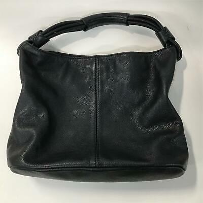 AU39 • Buy OROTON Slouchy Soft Black Pebble Leather Hobo Shoulder Bag Silver Hardware #8689