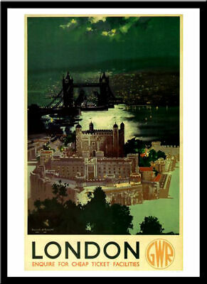 £3.99 • Buy London GWR Railway Travel 1938 Vintage Retro Print Poster Wall Art Picture A4 +