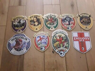 9 Wychwood Brewery. Beer Pump Clip (Front Only) Clean On The Back,some New • 5.50£