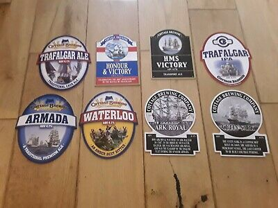 8 British Navy Historic Ships,Beer Pump Clips Cottage Brewing • 8£