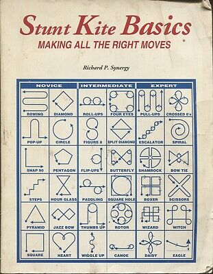 Stunt Kite Basics-Making All The Right Moves By Richard P. Synergy Paperback • 2£