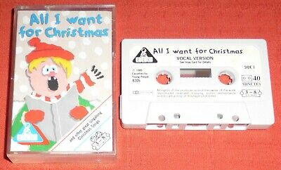 All I Want For Christmas - Uk Cassette Tape - Early Learning Centre (elc) • 7.99£
