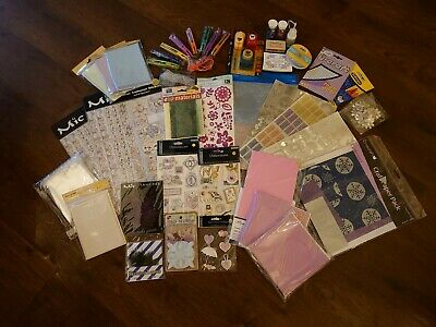 Job Lot Bundle Card Making, Paper, Stamps, Cards & Envelopes • 10£