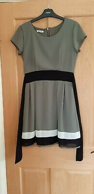 WAL G Olive Skater Dress, Fully Lined, Size S (8) • 3.50£