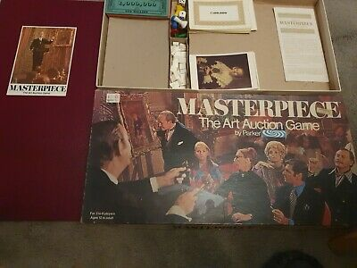 MASTERPIECE THE ART AUCTION GAME PARKER 1970 VINTAGE BOARD GAME Complete • 37£