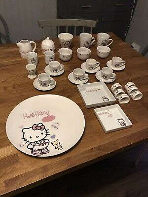 Hello Kitty Party Original Sanrio China Collectable Bowls Jugs Cups Plates • 49.99£