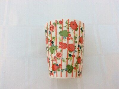 New Julie Dodsworth Sweet Pea Small Plant Pot With Red Rose Stripe Pattern £4 • 4£