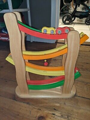 Pintoy Rainbow Slope Toy Car Ramp -Wooden Tower Slope • 5£