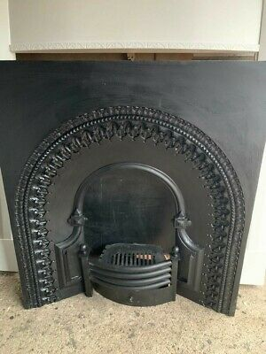 Victorian Cast Iron Reproduction Insert With Fire Grate • 95£