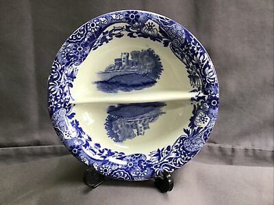 Vintage Copeland Spode ITALIAN Small Divided Dish, Blue Stamp, 12cm Wide • 14.99£