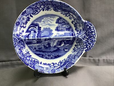 Vintage Copeland Spode ITALIAN Small Divided Dish 15cm / 6  Wide, Blue Stamp • 14.99£