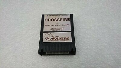 CROSSFIRE: ATARI 400/800/65 XE XL Cartridge Game By SIERRA - RARE TESTED/WORKING • 9.99£