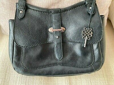 Bailey And Quinn Black Leather Bag With Dust Bag • 5£
