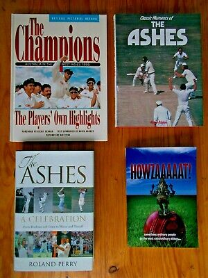 AU30 • Buy Cricket X 4 Books Howzaaaaat-signed,the Ashes,classic Moments,the Champions 1995