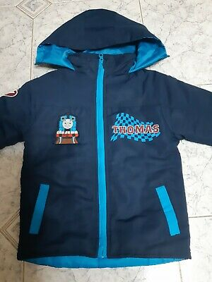 Thomas The Tank Engine Quilted, Hooded Winter Jacket.  Age 3 - 4 Years • 5.99£