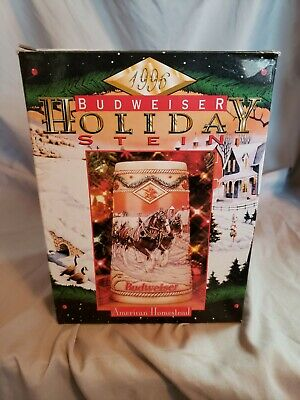 $ CDN25.95 • Buy 1996 Budweiser Holiday Stein Ceramic Beer Mug Collectible
