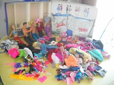 $ CDN12.98 • Buy Huge Lot Vintage Barbie Ken Midge Friends Clone/Barbie Clothes Accessories Case