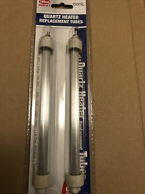 £8.75 • Buy 2 X Pack Of 2 QUARTZ 185mm HEATER REPLACEMENT TUBES BULBS  400W  FROSTED LAMP