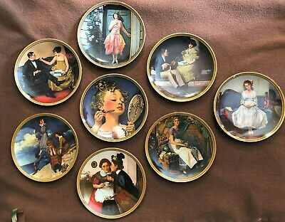 $ CDN51.89 • Buy Norman Rockwell's Rediscovered Women Collection Plates Knowles - Lot Of 8
