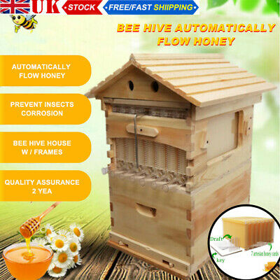 £199.99 • Buy Bee Hive House Super Brood 2-Layer Bee Keeping Box House For 7PC Bee Hive Frames