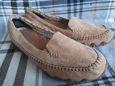 Sketchers Size 5 Womens Tan Nubuck Leather Slip On Shoes Pumps • 18£