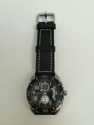 TIME FORCE TF2990M01 Watch Man Strap Leather Black Analog • 179.28£