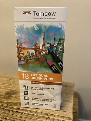 Tombow ABT Dual Brush Pen - Earth Colours (Pack Of 18) • 44.99£