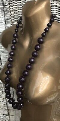 Long Chunky Statement Beads Necklace 80s Retro Goth Hippie Flapper Grunge Indie • 12£