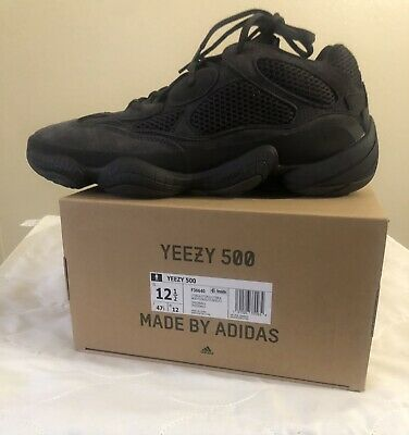 $ CDN388.76 • Buy Adidas Yeezy 500 Utility Black - Size 12.5 Men's 100% AUTHENTIC New With Box '20