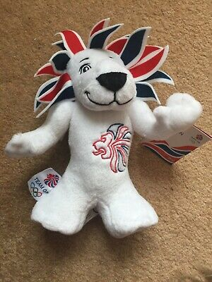 Pride The Lion London 2012 Olympic Mascots Official Team GB Plush • 5.25£