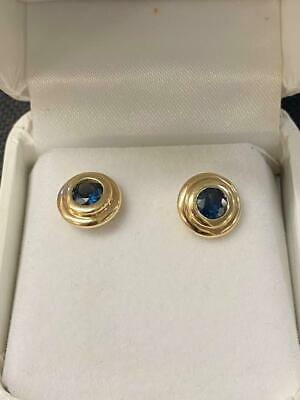 AU299 • Buy 9ct Yellow Gold Handmade Natural Green Blue Sapphires 68119