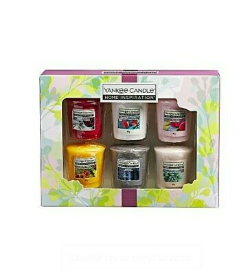 Yankee Candle Votive Home Inspiration Collection Christmas Present Gift Set Of 6 • 12.99£