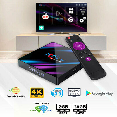 AU49.99 • Buy Android Smart TV Box H96 Max Ultra HD WIFI 4K Quad Core Netflix Youtube 2GB 16GB