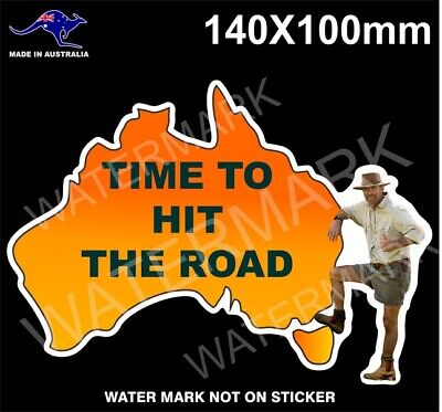 AU5.99 • Buy Time To Hit The Road Sticker Russell Coight Outback 4x4 Stickers