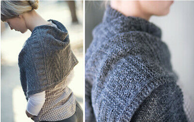 STUNNING GUERNSEY  WINTER WRAP / JARED Full Knitting Pattern And Instructions • 2.69£