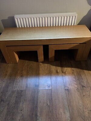 Next Dakota Pine Nest Of 3 Coffee Tables Ised But In Good Condition  • 60£