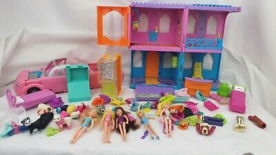 Polly Pocket Hotel With ,dolls , Animals,  Clothes- Chies, Limousine  • 16.99£