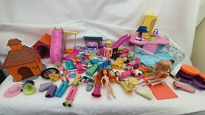 Polly Pocket Dolls ,  Clothes- Clothes, Furniture   Pool, Little Houses  • 16.99£