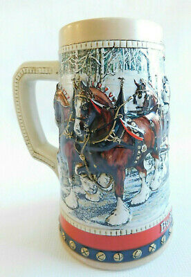 $ CDN12.96 • Buy 1988 Budweiser Holiday Beer Stein Clydesdale Collector's Series~Stein~Mug