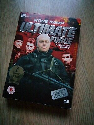Ultimate Force(Ross Kemp)Complete Series 1-4 8 Disc DVD • 1.50£